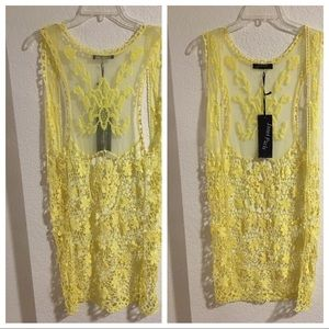 Yellow Lace Cardigan